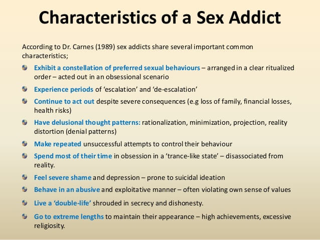 why recovering addicts become addicted to sex