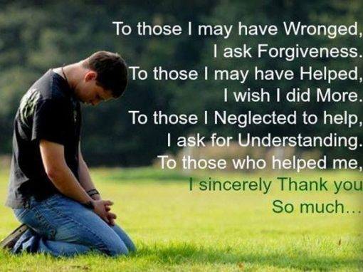 i ask for your forgiveness quote