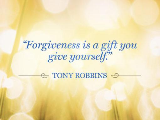Forgiveness…